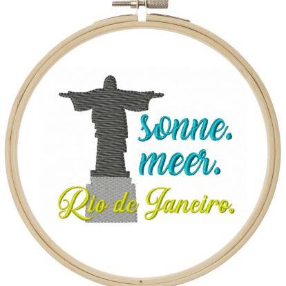 Rio de Janeiro Urlaub Stickdatei Reisen