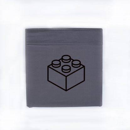 Bügelbild Baustein Box