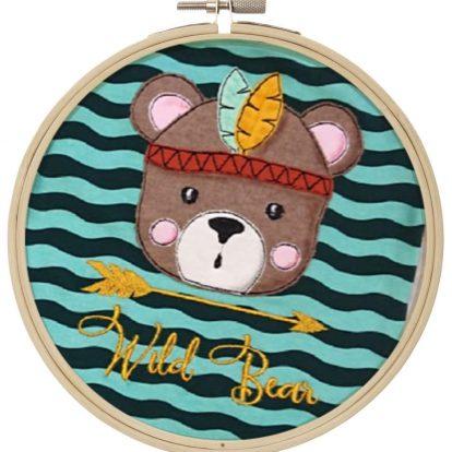 Wildbear Bär Stickdatei Doodle