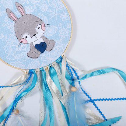 Traumfänger Junge Blau Hase