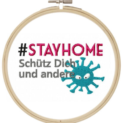 Stay Home Stickdatei Freebie