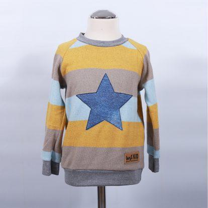 Pullover Streifen Applikation Stern