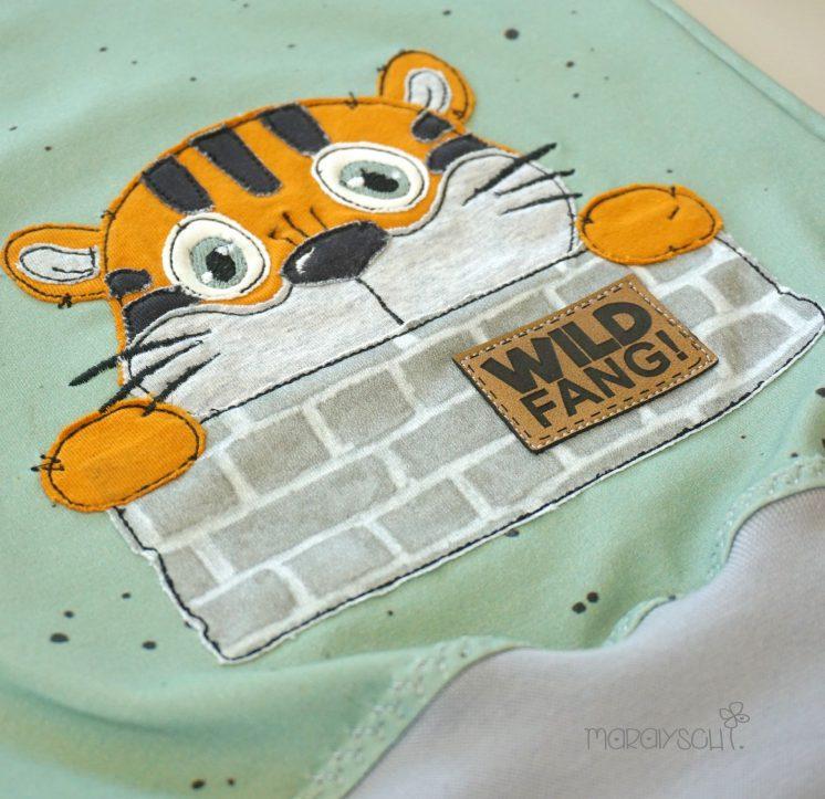 Doodle Stickdatei Tigerkind