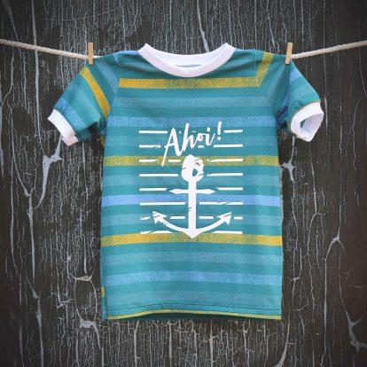 Sommer T-Shirt Streifen Plott Ahoi