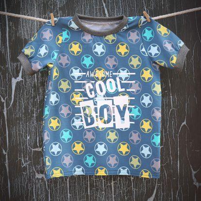 Sommer T-Shirt Streifen Plott Cool Boy